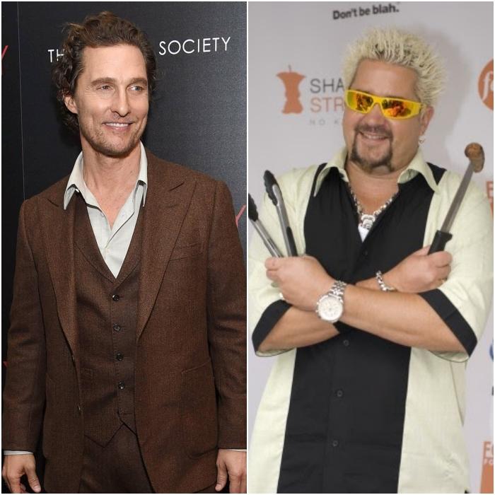 Matthew McConaughey y Guy Fieri