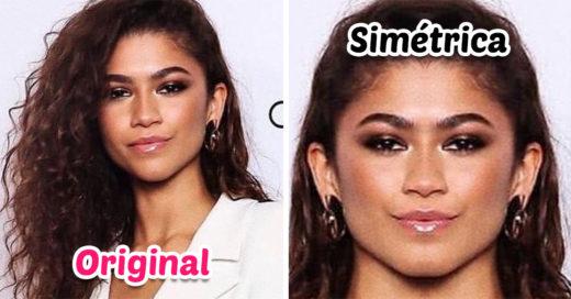 Así se verían 14 celebridades si sus rostros fueran 100% simétricos