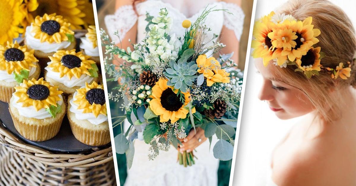 17 Maneras de decorar tu boda con la belleza de los girasoles