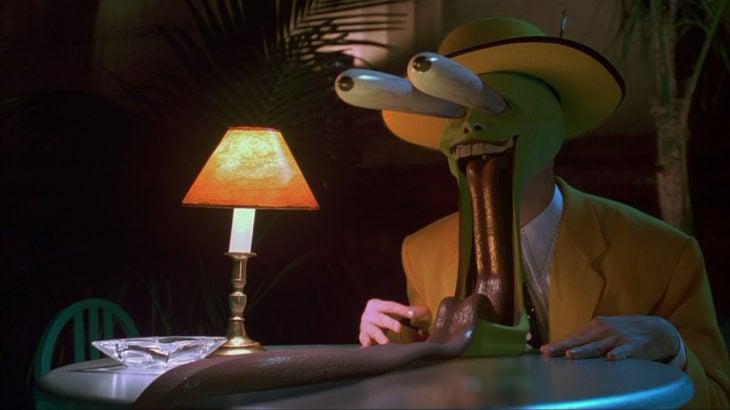 escena de la mascara con jim carrey