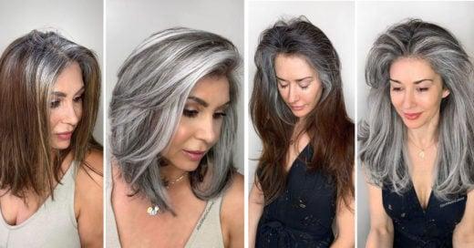 Estilista ayuda a sus clientas a aceptar las canas con increíbles cambios de look