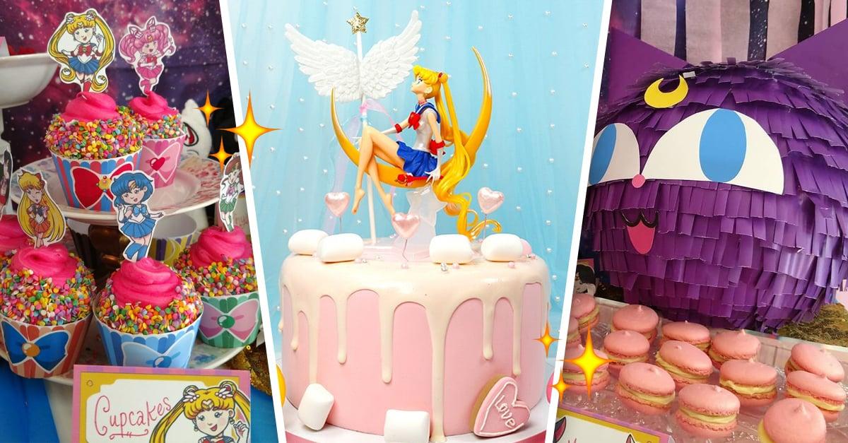 15 Mágicas ideas para decorar tu fiesta de cumpleaños estilo Sailor Moon