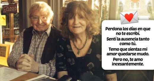 Le escribe a su esposa un poema diario a pesar de que ella falleció en 2016