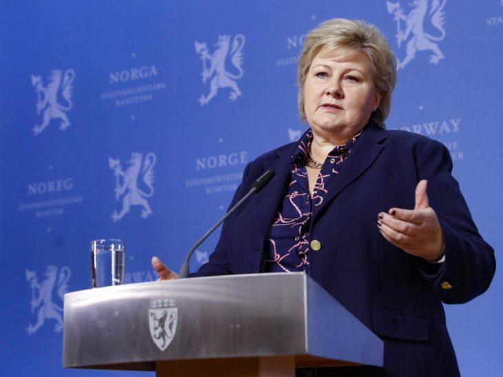 Erna Solberg, primera ministra de Noruega