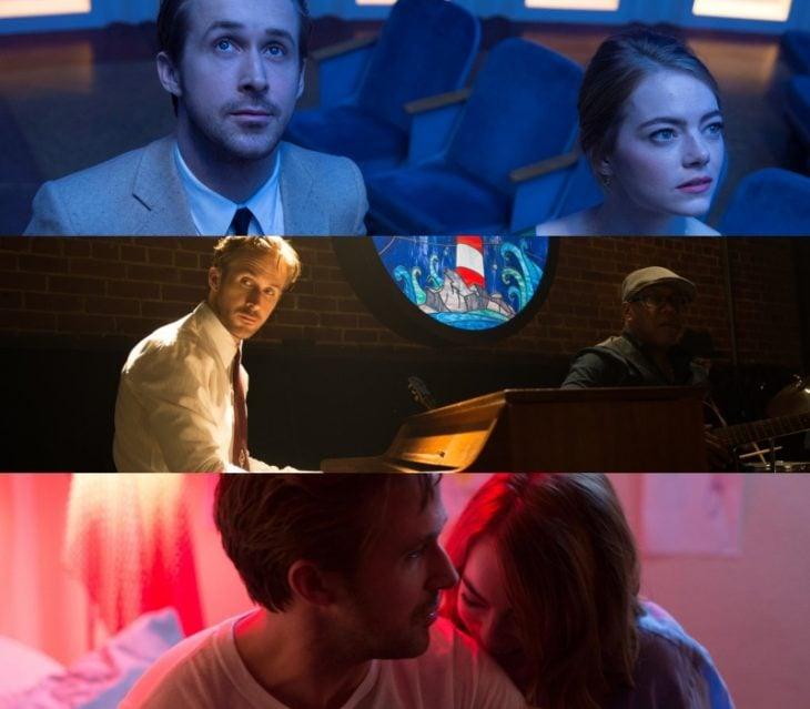 escenas de la pelicula la la land con ryan gosling y emma stone en 2016