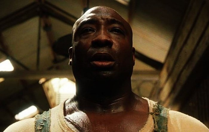 actor michael clarke duncan como john coffey en la milla verde, the green mile