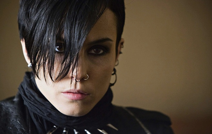 actriz noomi rapace como lisbeth salander en la chica del dragon tatuado, the girl with the dragon tattoo