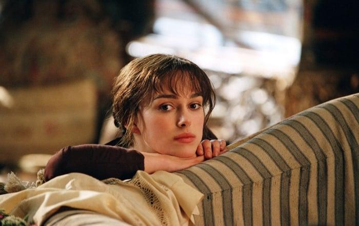actriz keira knightley como elizabeth bennet en orgullo y prejuicio