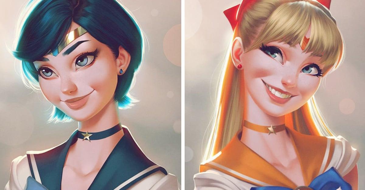 Artista brasileño ilustra a las Sailor Scouts a su estilo; ¡las necesitamos en una película!