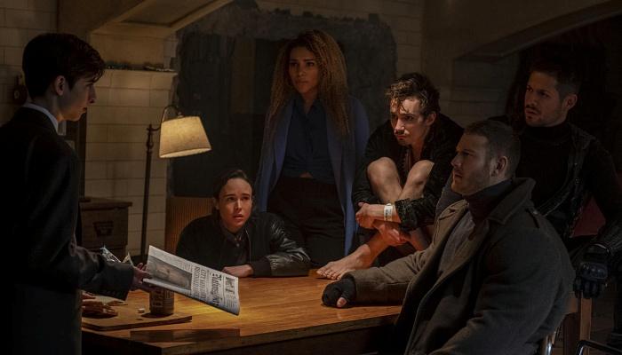 escena de la serie de netflix the umbrella academy