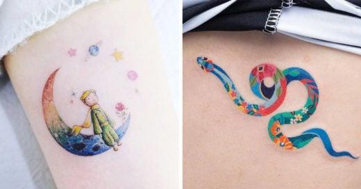 Los 15 tatuajes más lindos que te inspirarán alegría hasta en los días más grises
