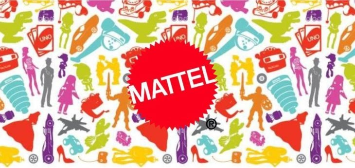 Logo de Mattel, productora de juguetes