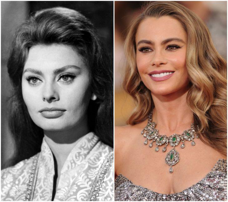 Sophia Loren y Sofía Vergara