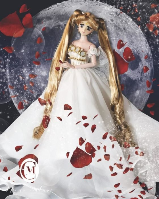 Muñeca de porcelana creada por el artista Mini Couture de Sailor Moon, Usagi Tsukino