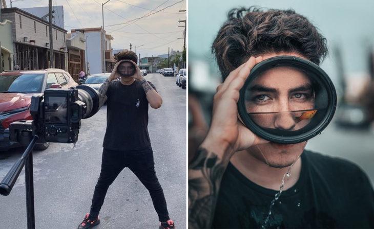 Detrás de cámaras de sesión de Omahi, fotógrafo mexicano