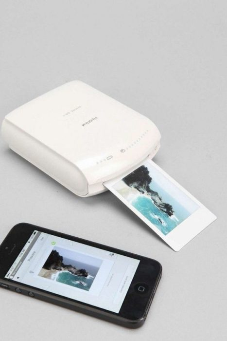 Miniimpresora para celular en color blanco