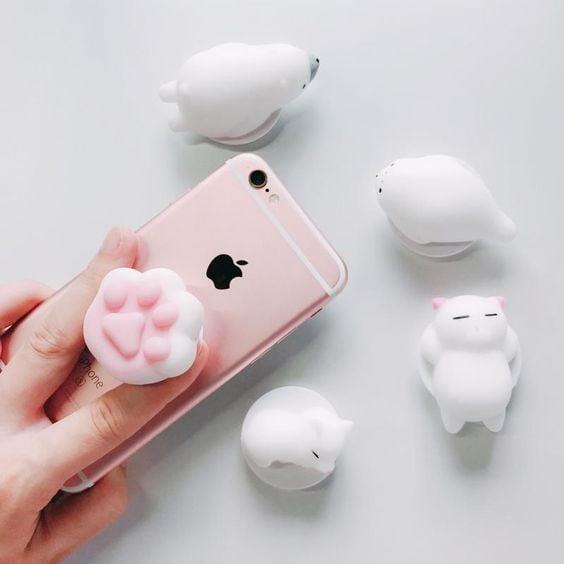 Soporte para celular en forma de gatito