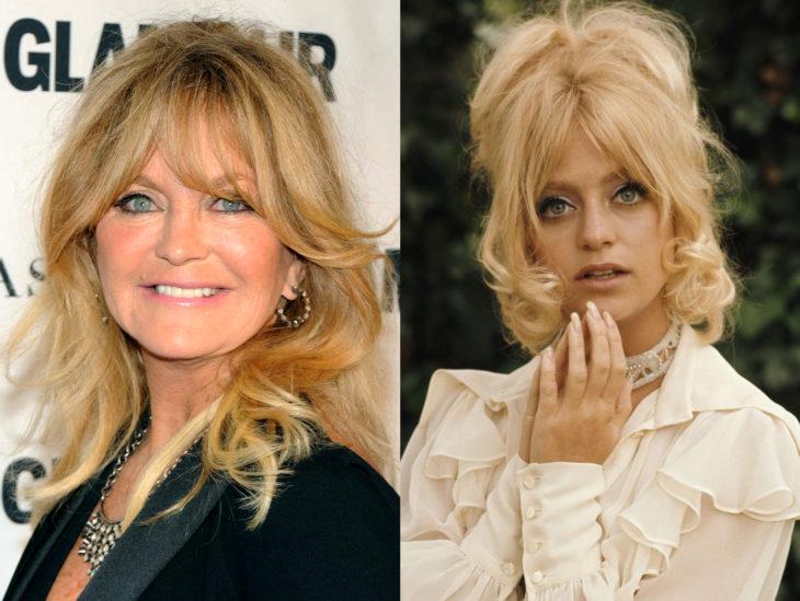 Actrices mayores ahora y antes; Goldie Hawn joven