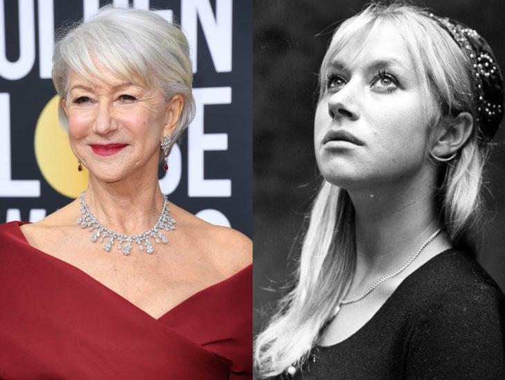 Actrices mayores ahora y antes; Helen Mirren joven