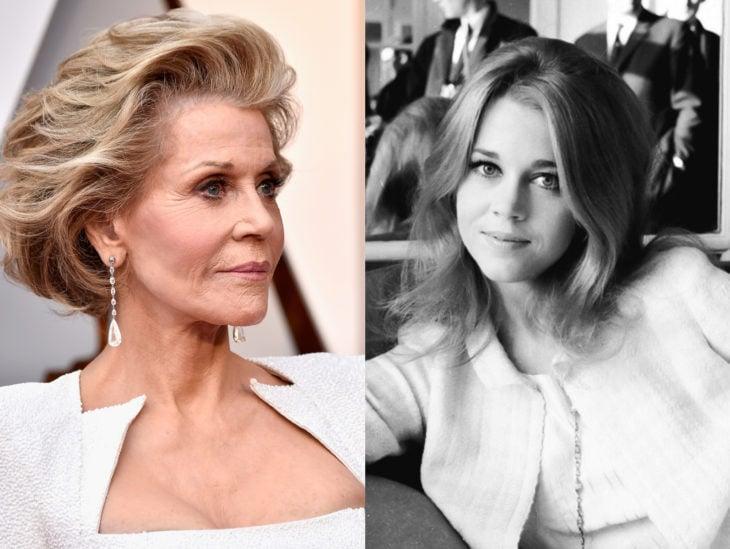 Actrices mayores ahora y antes; Jane Fonda joven