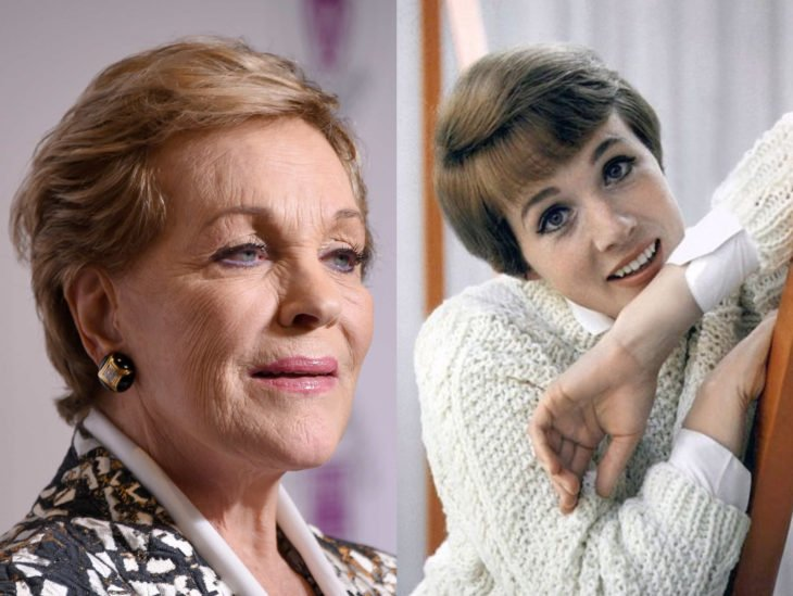 Actrices mayores ahora y antes; Julie Andrews joven