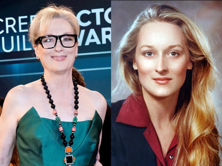 Actrices mayores ahora y antes; Meryl Streep joven
