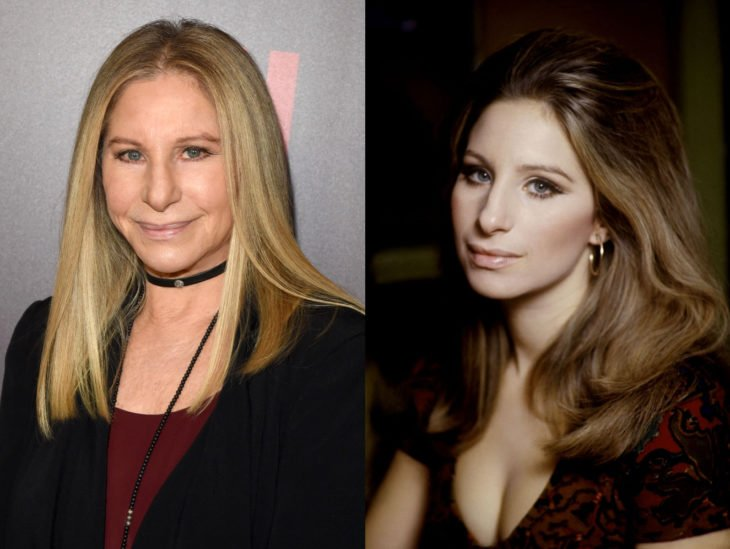 Actrices mayores ahora y antes; Barbra Streisand joven