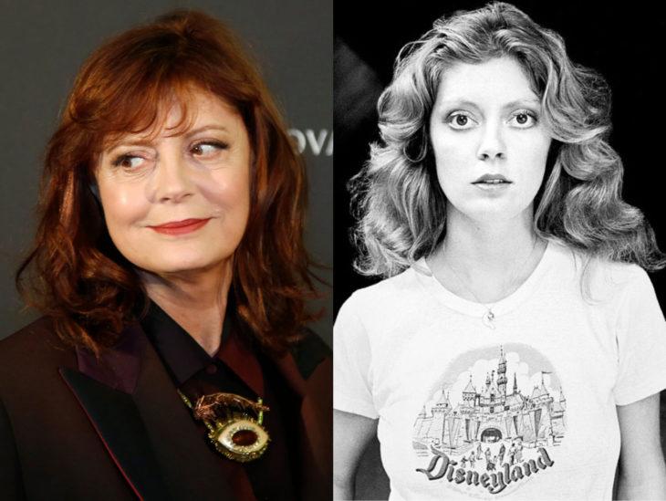 Actrices mayores ahora y antes; Susan Sarandon joven