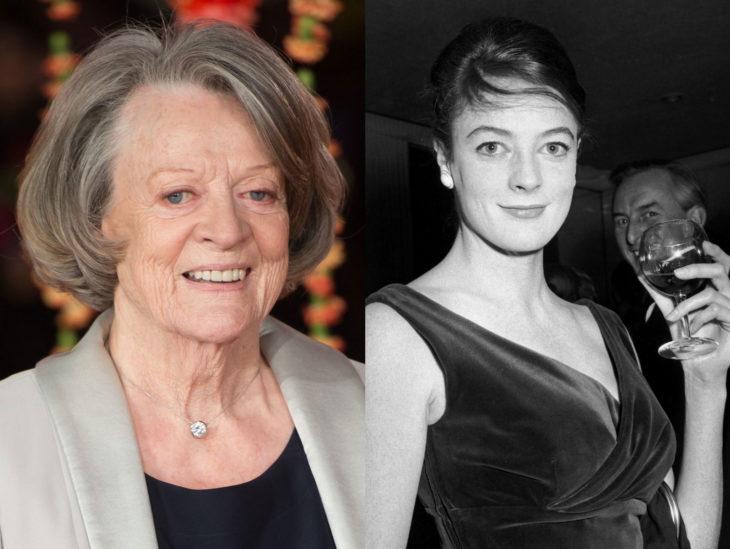 Actrices mayores ahora y antes; Maggie Smith joven