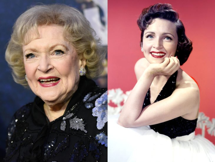 Actrices mayores ahora y antes; Betty White joven