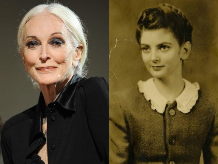 Actrices mayores ahora y antes; Carmen Dell'Orefice joven