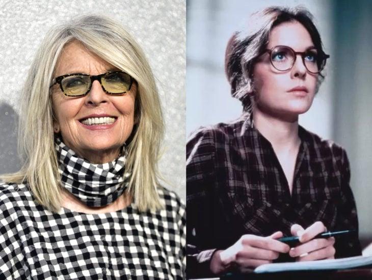 Actrices mayores ahora y antes; Diane Keaton joven