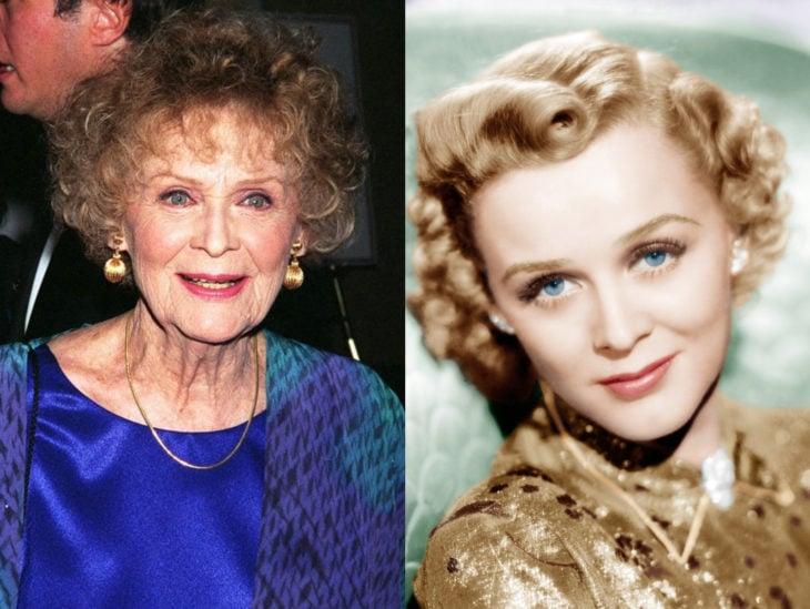 Actrices mayores ahora y antes; Gloria Stuart joven