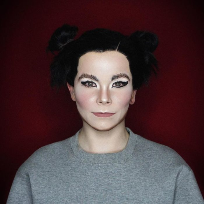 Alex Stone, maquillista, maquillado como Björk