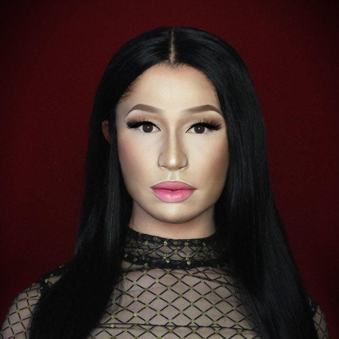 Alex Stone, maquillista, maquillado como Nicki Minaj