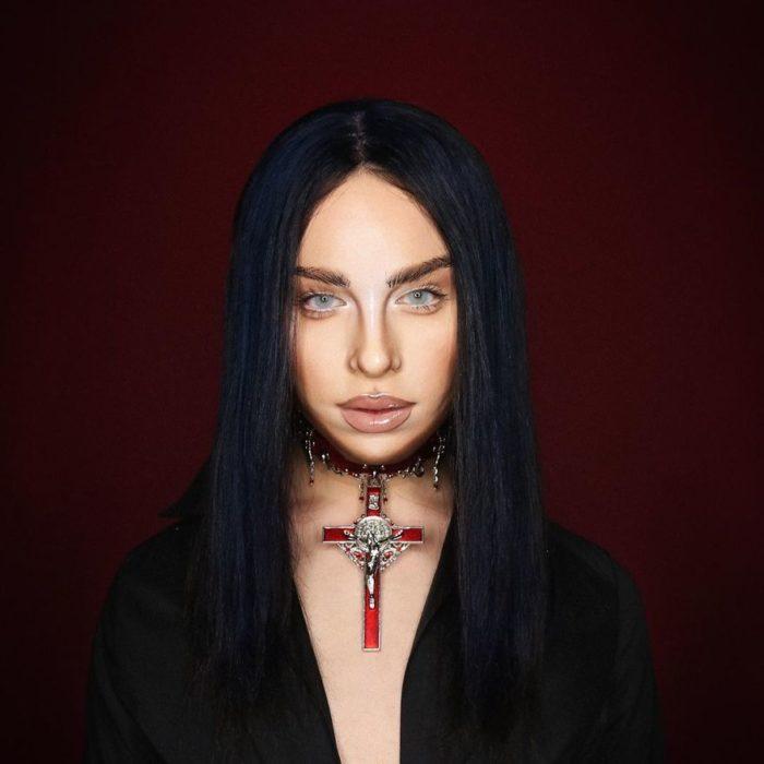 Alex Stone, maquillista, maquillado como Billie Eilish