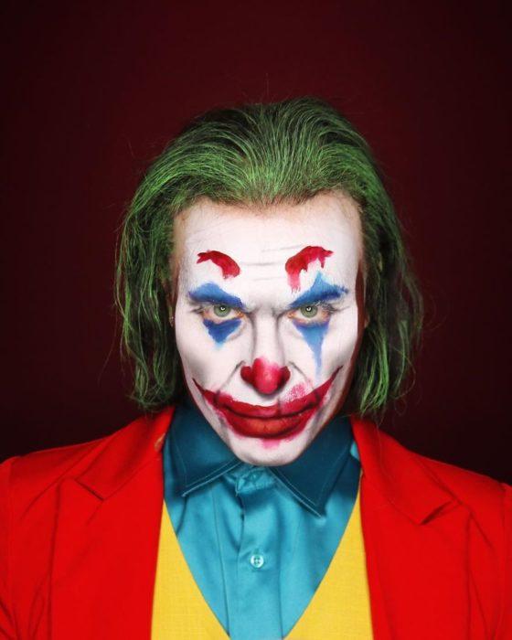 Alex Stone, maquillista, maquillado como Joaquin Phoenix como Jóker