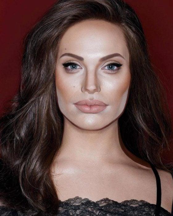 Alex Stone, maquillista, maquillado como Angelina Jolie