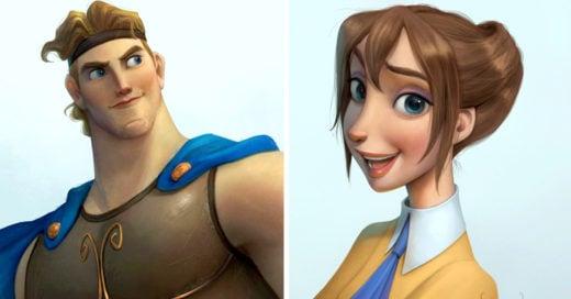 Artista indonesio ilustra a personajes de Disney con un toque más realista