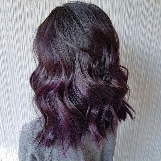 'Blackberry hair', the dye that brunette girls will love 1