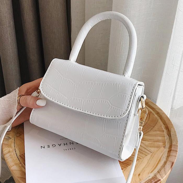 Small white handbag
