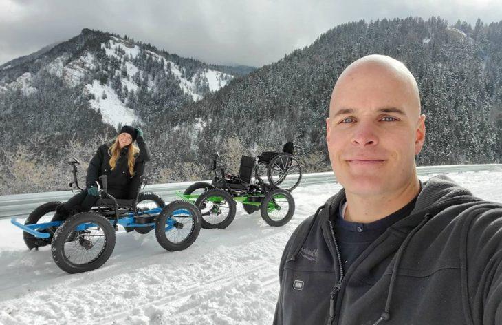 Zack y Chambry en la nieve