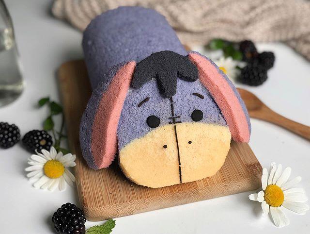 Pan dulce y suave en rollito en forma de Igor de Winnie Pooh