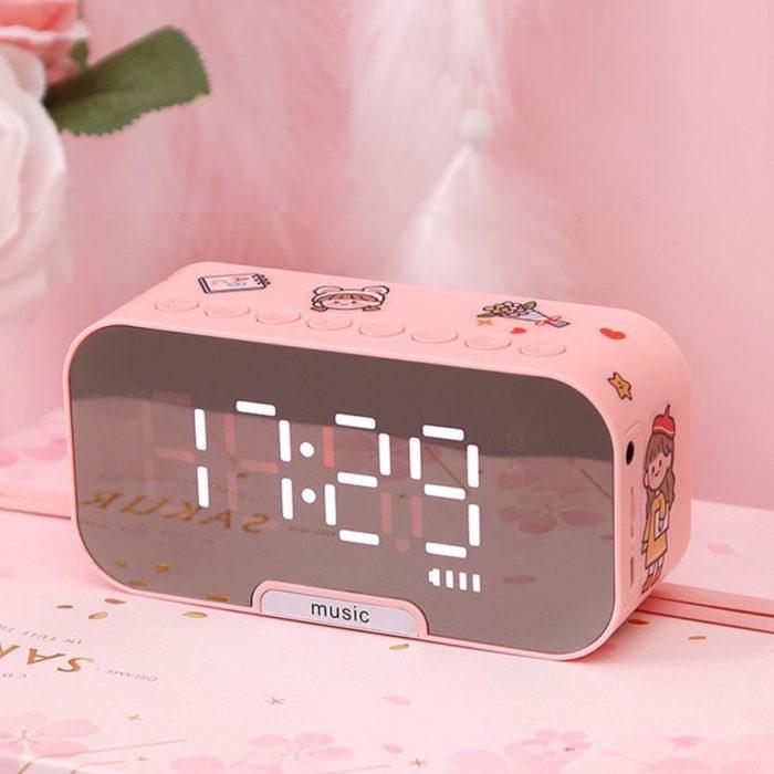 Artículos de decoración para el hogar; reloj despertador rosa