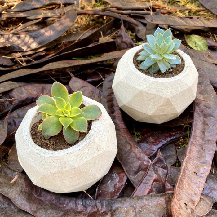 Artículos de decoración para el hogar; macetas geométricas para suculentas