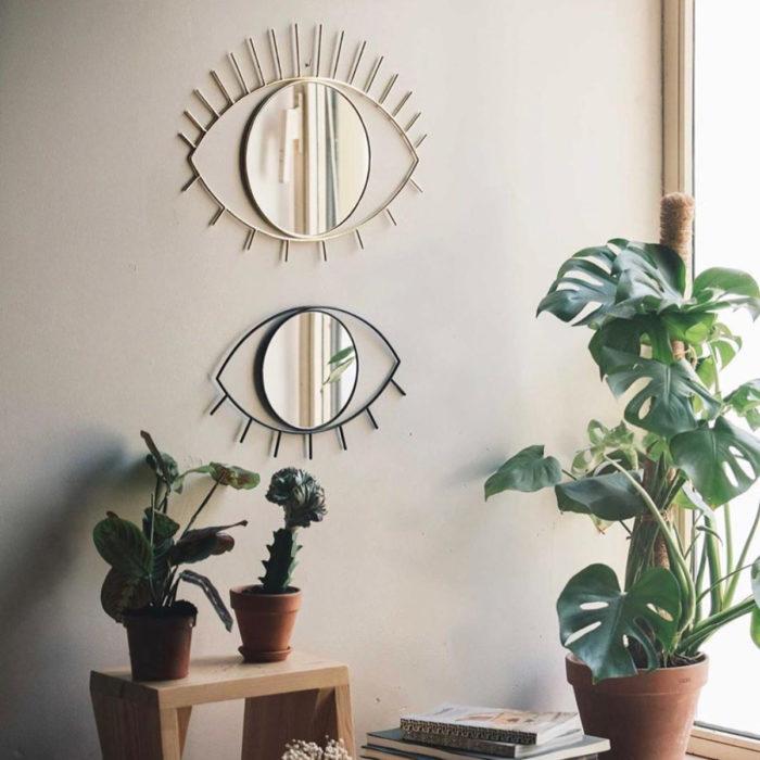 Artículos de decoración para el hogar; espejo de ojo