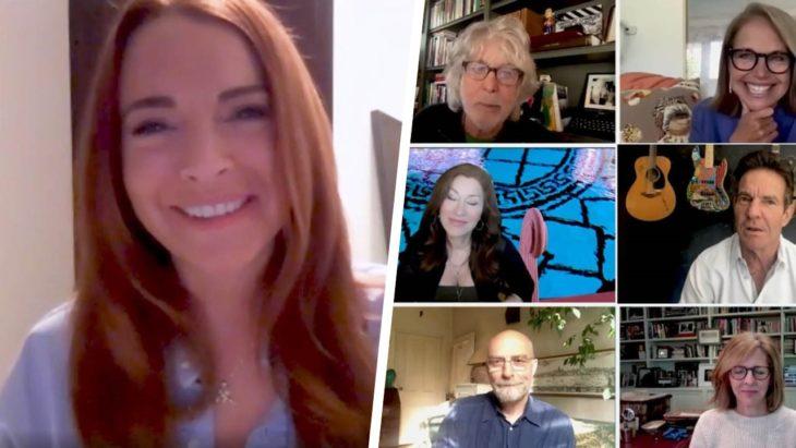 Lindsay Lohan reunida con el elenco de Juego de Gemelas