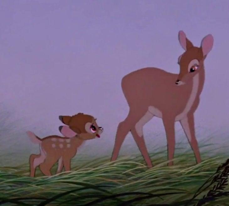 Escenas tristes de películas Disney; Bambi y su mamá