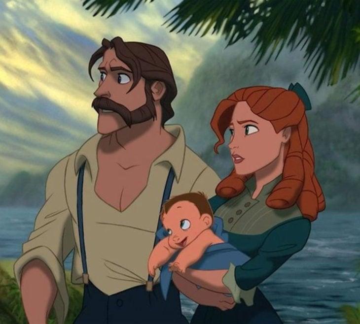 Escenas tristes de películas Disney; papás de Tarzán