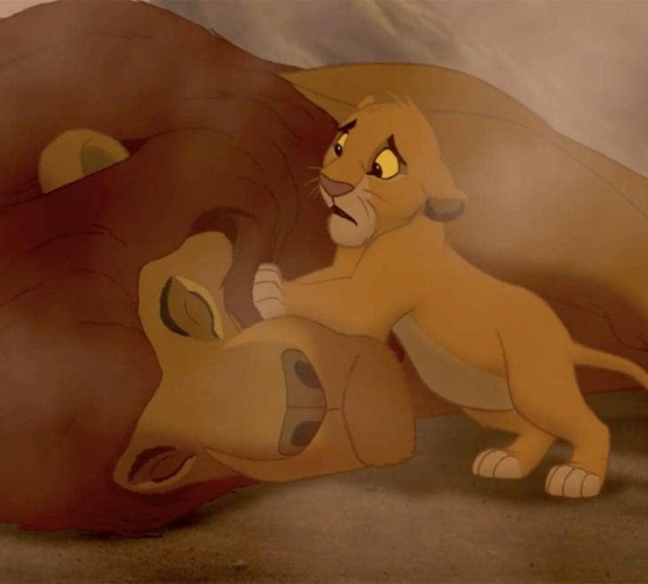 Escenas tristes de películas Disney; Simba y Mufasa